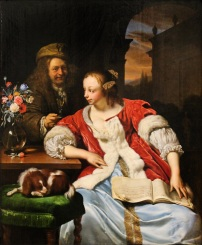 """The interrupted song"" (Frans van Mieris ""the younger""), 1671."