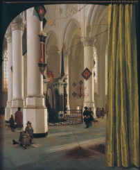 Interior of the Nieuwe Kerk, Delft, with the tomb of William the Silent, by Hendrik van Vliet